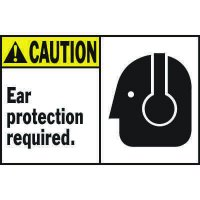 Machine Warning Labels - Caution Ear Protection Required