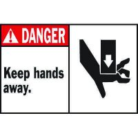 Machine Warning Labels - Danger Keep Hands Away