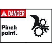 Machine Warning Labels - Danger Pinch Point