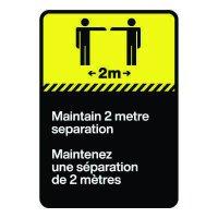 Bilingual CSA Sign - Maintain Two Metre Separation
