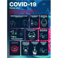 Coronavirus Safety Poster - Steps to Minimize Chances of Contracting the Virus