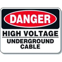 Electrical Safety Signs - Danger High Voltage Underground Cable
