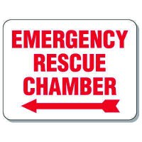 Giant Emergency & Evacuation Signs - Emergency Rescue Chamber