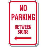No Parking Signs - No Parking Between Signs (Left Arrow)