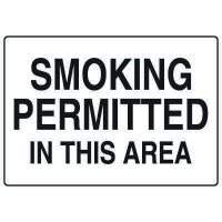 No Smoking Signs - Smoking Permitted In This Area