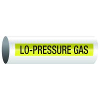 Opti-Code™ Self-Adhesive Pipe Markers - Lo-Pressure Gas