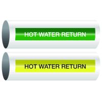 Opti-Code™ Self-Adhesive Pipe Markers - Hot Water Return
