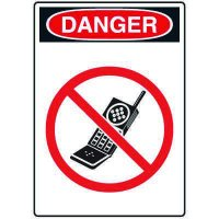 Pictogram Signs - No Cell Phone Use