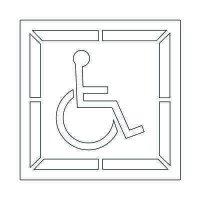 Plastic Graphic Stencils - Handicap Symbol