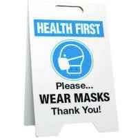 Please Wear Masks Floor Stand
