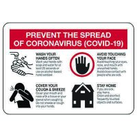 Prevent the Spread of COVID-19 Signs