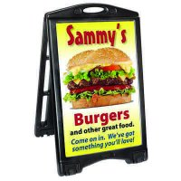 A-Plus Rolling Sandwich Board Sign Panels & Frame