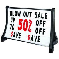 QLA-Plus Large Rolling A-Frame Sidewalk Signs