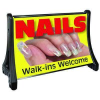 QLA-Plus Large Rolling A-Frame Sidewalk Sign Panels & Frame