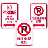 Rapid-Ship Custom Parking Signs - No Parking