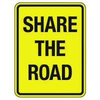 Reflective Traffic Reminder Signs - Share The Road
