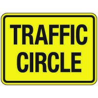 Reflective Traffic Reminder Signs - Traffic Circle