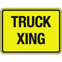 Reflective Traffic Signs - Truck Xing