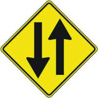 Reflective Warning Signs - 2-Way Traffic Symbol