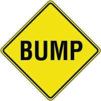 Reflective Warning Signs - Bump