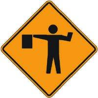 Reflective Warning Signs - Flagger (Symbol)