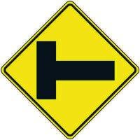 Reflective Warning Signs - Intersection Traffic Symbol