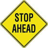 Reflective Warning Signs - Stop Ahead