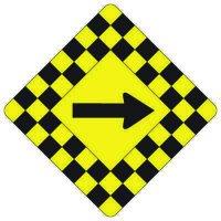 Regulatory Checkerboard Warning Signs – Arrow Symbol