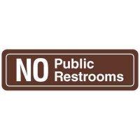 Restroom Signs - No Public Restrooms