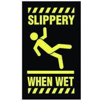 Safety Message Mat - Slippery When Wet