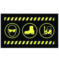 Safety Message Mat - Glasses@ Footwear and Forklift Graphics only