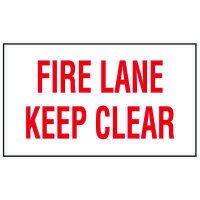 Adhesive Vinyl Fire Exit Signs - Fire Lane Keep Clear
