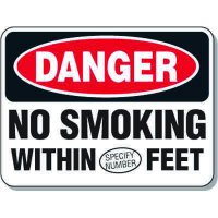 Semi-Custom No Smoking Safety Signs