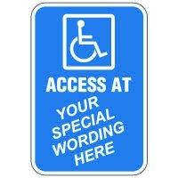 Semi-Custom Worded Signs - Access At
