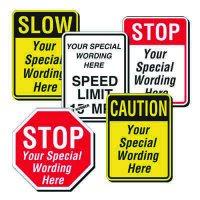 Semi-Custom Traffic Signs