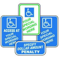 Semi-Custom Worded Signs - Handicap Signs