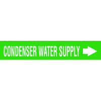 Seton Code™ Economy Self-Adhesive Pipe Markers - Condenser Water Supply