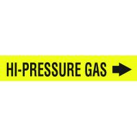 Seton Code™ Economy Self-Adhesive Pipe Markers - Hi-Pressure Gas
