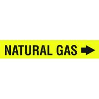 Seton Code™ Economy Self-Adhesive Pipe Markers - Natural Gas