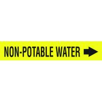Seton Code™ Economy Self-Adhesive Pipe Markers - Non-Potable Water