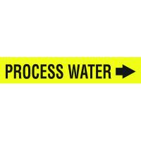 Seton Code™ Economy Self-Adhesive Pipe Markers - Process Water