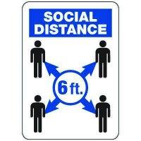 Six Feet Social Distance Sign