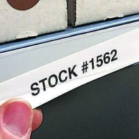 Slip-Strip Label Holding System