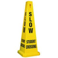 Slow Student Crossing - Safety Cones