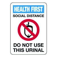 Social Distance - Do Not Use This Urinal Sign