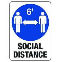 Social Distancing  - Keep 6 Feet Apart Sign