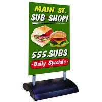 Springer Sidewalk Sign Panel & Frame