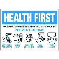Steps to Washing Hands Label