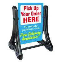Swinger Plus Rolling Sidewalk Sign Panel & Frame