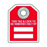 Tag & Lock To Be Removed Only - Hazard ID Padlock Tags
